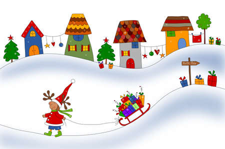 Christmas illustration Stock Illustration - 13835890