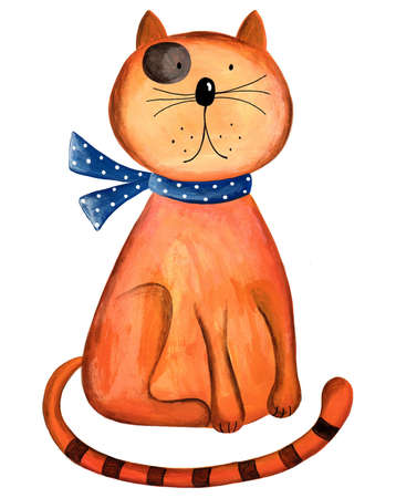 Red Cat  Artwork  Watercolors on paper