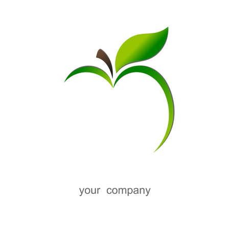 Green apple  Logo Stock Photo
