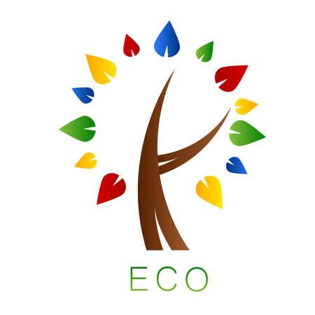 eco logo: Eco tree  Logo Stock Photo