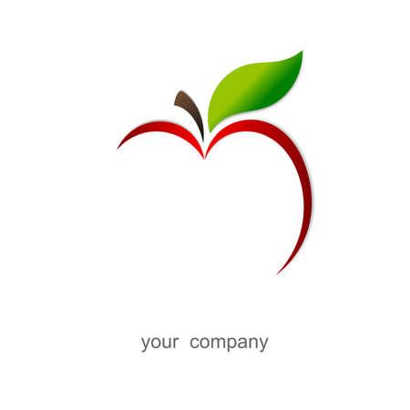 pomme rouge: Pomme rouge Logo Banque d'images