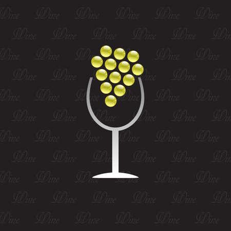 Logo Wine House on black background photo
