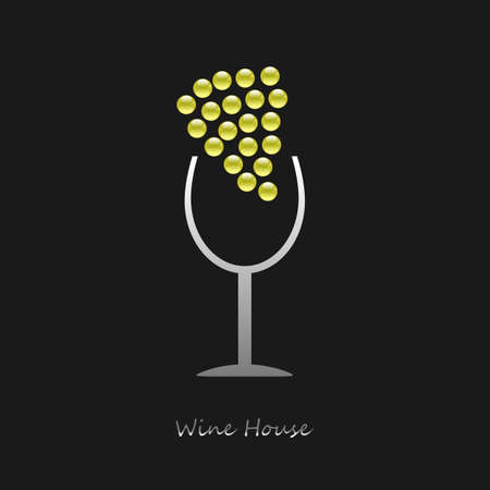Logo Wine House on black background photo
