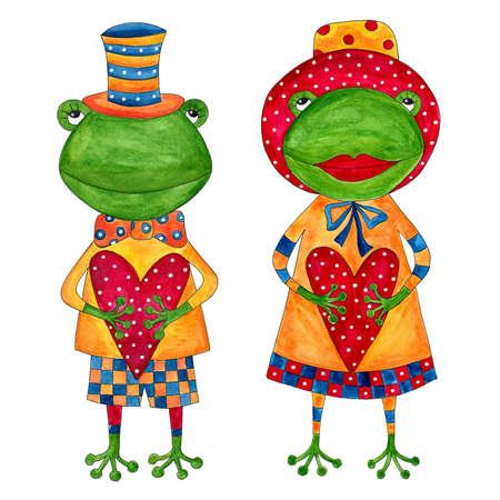 Couple of frogs Reklamní fotografie
