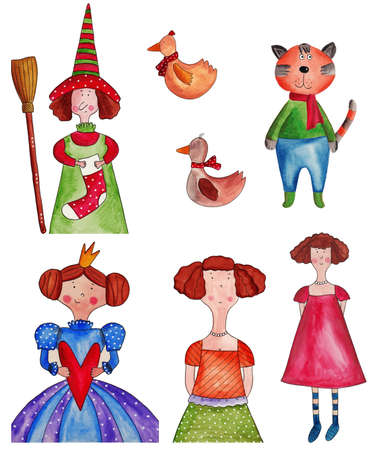 dolly: fairy-tale characters Stock Photo