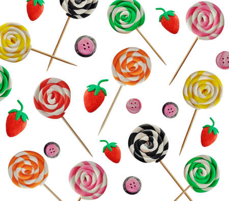 lolly pop: Plasticine lolly pop
