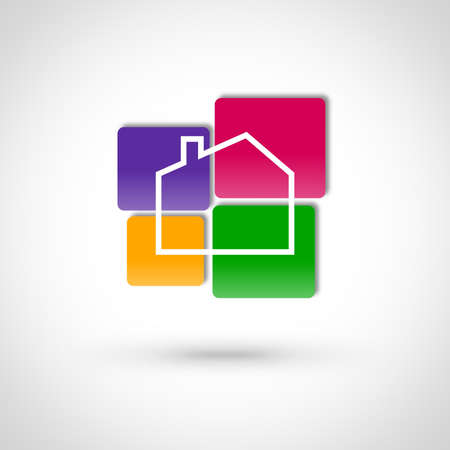 durable: Real estate icon design Stock Photo