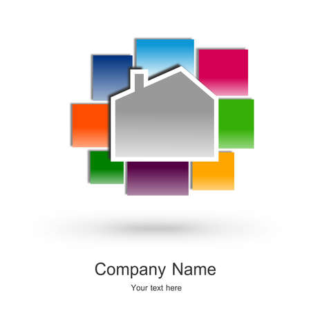 durable: Real estate business icon design