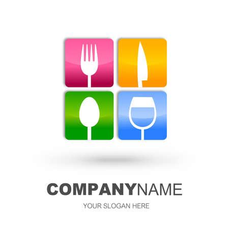 logos restaurantes: Restaurante icono del dise�o Foto de archivo