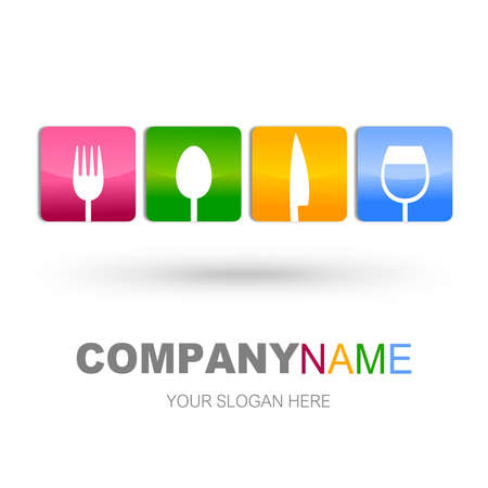 Restoran simge tasarım Stock Photo