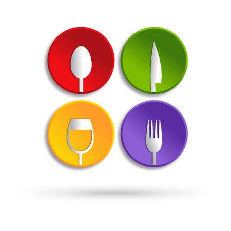 logos restaurantes: Servicio de alimentos icono del dise�o
