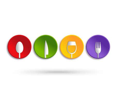 Food service icon design