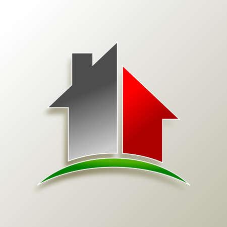 dauerhaft: Immobilien Logo-Design