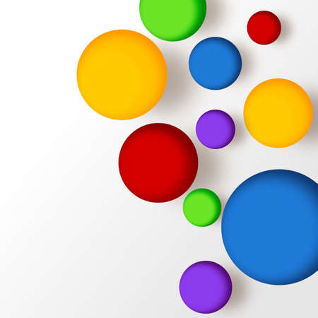 Multicolor balls  Abstract background