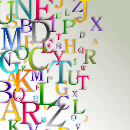 Alphabet abstract background Stock Photo
