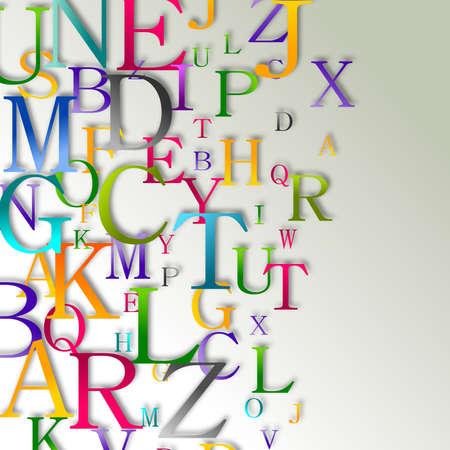 Alphabet abstract background Stock Photo