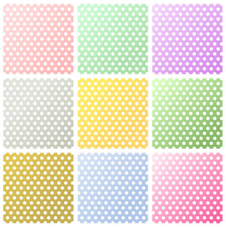 polka dot fabric: Set di pois sfondi Archivio Fotografico