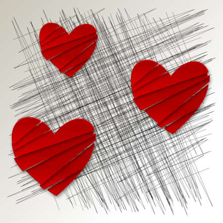 bunner: Valentines abstract cover Stock Photo