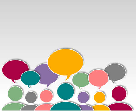 Asking people abstract graphic Design Stock Photo - 20405474