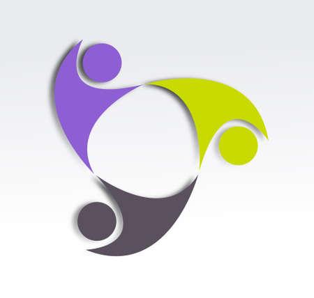 zusammenarbeit: Zusammenarbeit Icone Entwurf Lizenzfreie Bilder