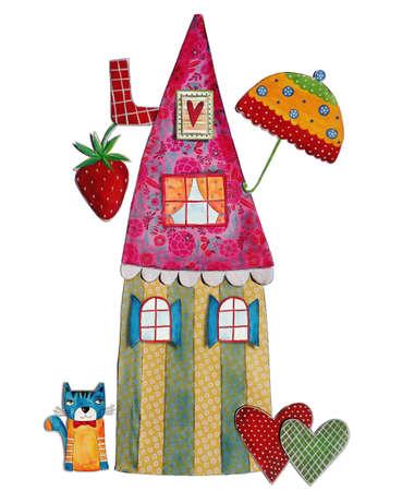fairly: fairy tales house, art digital collage