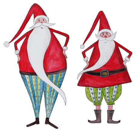two Santa Clauses Stock Photo - 22550220