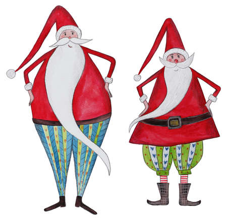 two Santa Clauses Stock Photo