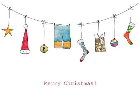 Christmas illustration Reklamní fotografie - 23206446