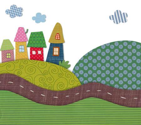 patchwork landscape: fairly tale landscape