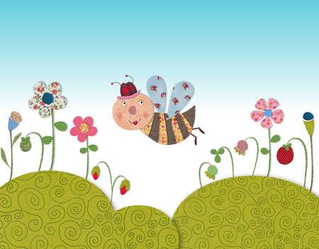 fairly: Little bee Stock Photo