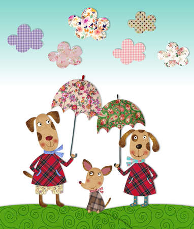 dog s family, illustrations for children illustration