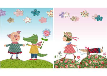 flowering field: illustrations for children