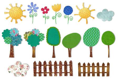 fairly: set decorative elements Stock Photo