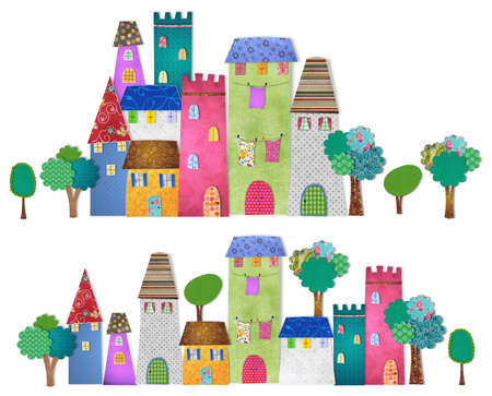 fairly: Fairytale city Stock Photo