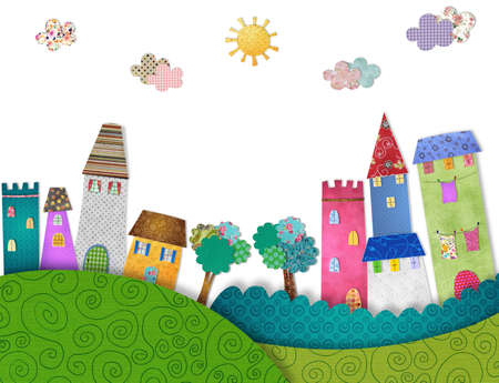 fairly: Fairytale city Stock Photo