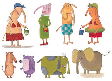 gnawer: Cartoon characters