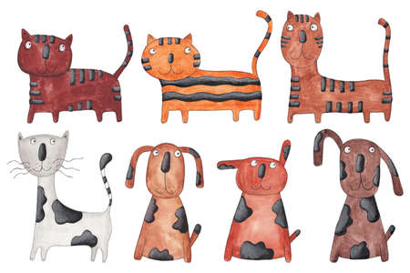caricature cat: Cats and dogs