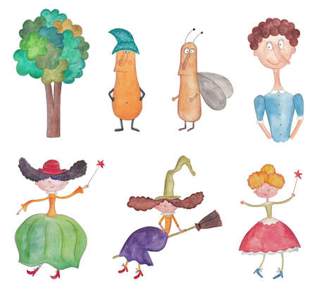 Watercolors on paper  Characters photo