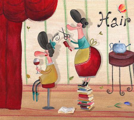 coiffeur: Salon de coiffure Banque d'images