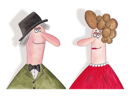 spouses: portrait of middle age spouses