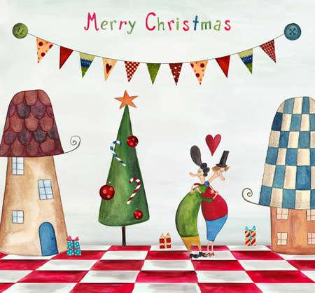 merry dancers: Christmas card