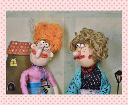 puppet woman: Spending time together. Puppets
