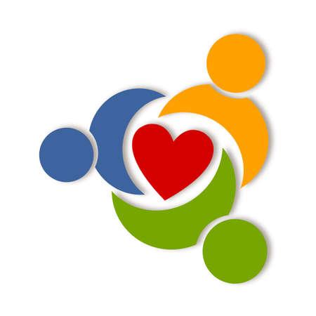 zdraví: Abstrakt zdraví život logo