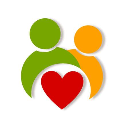 Abstract health life logo Reklamní fotografie