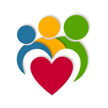 gezonde mensen: Abstracte gezondheid leven logo Stockfoto