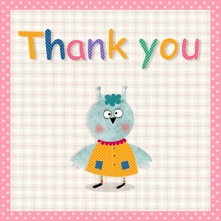 heading: Thank you card