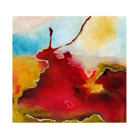 arte abstrata: A arte abstrata. Aquarela sobre papel