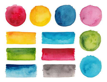 Set of colorful watercolor palettes Reklamní fotografie