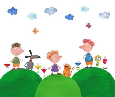 fairytale character: Illustration for children