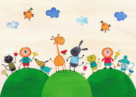 pussy: Illustration for children